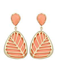 Kendra Scott - Pink Stella Leafmotif Magnesite Earrings Salmon - Lyst