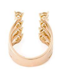 Delfina Delettrez   Metallic Diamond Dots Ring   Lyst