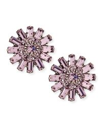 DANNIJO | Metallic Charlotte Crystal Stud Earrings | Lyst
