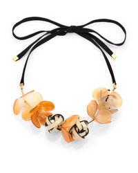 Marni - Orange Horn Multi-Flower Necklace - Lyst