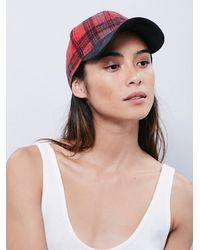 Free People - Red Almar Hats Womens Taylor Baseball H - Lyst