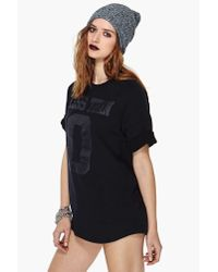 Nasty Gal - Black Unif Less Than 0 Jersey - Lyst