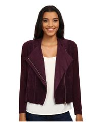 Calvin Klein - Purple Suade Fly Front Shrug - Lyst