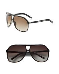 Dior Homme | Black Acetate Aviator Shield Sunglasses for Men | Lyst