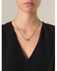 Ferragamo   Metallic Gancini Pendant Necklace   Lyst