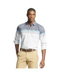 Sean John - Blue Long Sleeve Engineered Stripe Shirt for Men - Lyst