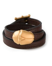 Valentino | Metallic Scarab Detail Bracelet | Lyst