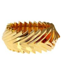 Eddie Borgo | Metallic Goldplated Overlapping Triangle Bracelet | Lyst