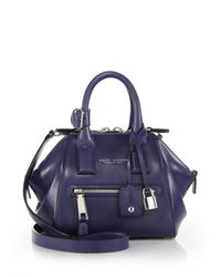 Marc Jacobs   Purple Incognito Mini Smooth Leather Top-handle Bag   Lyst