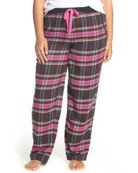 DKNY - Black Flannel Pants - Lyst
