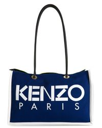 KENZO - Blue ' Paris' Tote - Lyst
