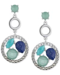 Judith Jack | Blue Sterling Silver Multi-stone Drop Earrings | Lyst