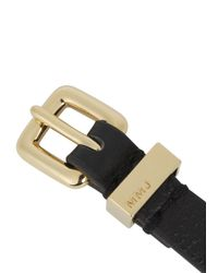 Marc By Marc Jacobs - Metallic Black Screw Embellished Leather Bracelet - Lyst