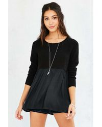 Kimchi Blue | Black Babydoll Sweater | Lyst