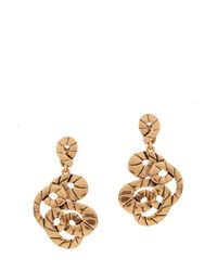 Oscar de la Renta | Metallic Swirl Rope Earrings | Lyst