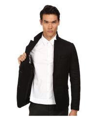 The Kooples - Black Sport Melange Flannel Down Blazer for Men - Lyst