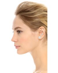 Erickson Beamon - White Left Graduated Glass Pearl Ear Crawler - Pearl - Lyst