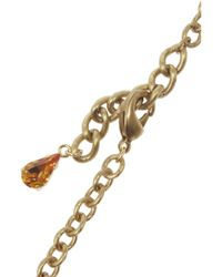 Dolce & Gabbana - Metallic Gold-Plated Swarovski Crystal Necklace - Lyst