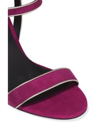 Rebecca Minkoff - Purple Rosalie Suede Sandals - Lyst