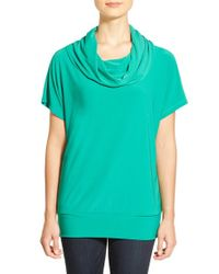 Chaus - Green Dolman Sleeve Cowl Neck Top - Lyst