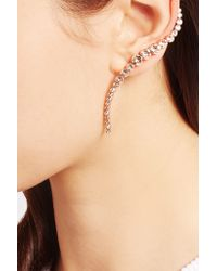 Ryan Storer - Metallic Rose Gold-plated Swarovski Crystal Ear Cuff And Stud Earring - Lyst