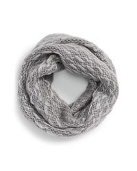 Vince Camuto | Gray 'thick Think' Knit Infinity Scarf | Lyst