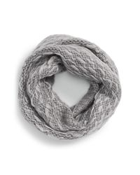 Vince Camuto - Gray 'thick Think' Knit Infinity Scarf - Lyst
