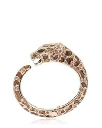 Roberto Cavalli | Metallic Topaz & Gold Plated Leopard Bracelet | Lyst