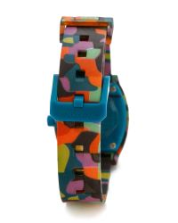 Nixon | Multicolor Small Time Teller Watch - Neo Preen | Lyst