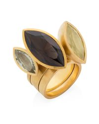 Ilene Steele Jewellery - Metallic Medium Marina Ring Lemon Quartz - Lyst