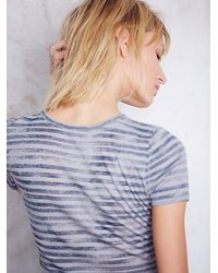 Free People - Gray Intimately Womens Boy She's Got It Baby Tee - Lyst
