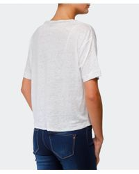 Rag & Bone | White Croppe Deal T-shirt | Lyst