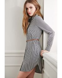 Forever 21 | Blue Gingham Plaid Shirt Dress You've Been Added To The Waitlist | Lyst