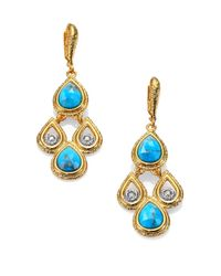 Alexis Bittar - Blue Elements Maldivian Turquoise & Crystal Scalloped Drop Earrings - Lyst