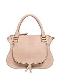 Chloé | Natural Marcie Grained Leather Top Handle Bag | Lyst