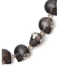 Shebee - Black Frosted Barbara Necklace - Lyst