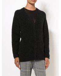 3.1 Phillip Lim | Black Oversized Merino Wool Cardigan | Lyst