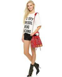 Moschino - Bandana Bucket Bag - Red - Lyst