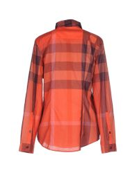Burberry Brit - Red Shirt - Lyst