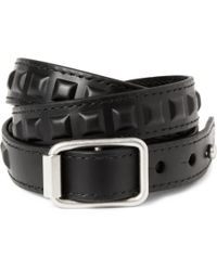 Balenciaga | Black Studded Leather Wrap Bracelet for Men | Lyst