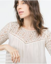 Zara | White Guipure Lace Blouse | Lyst
