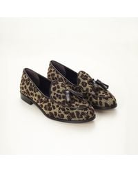 Trademark | Natural Needlepoint Leopard Loafer | Lyst