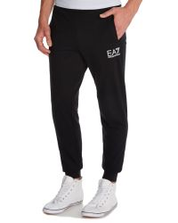 EA7 - Black Straight Leg Casual Tracksuit Bottoms for Men - Lyst