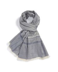 Ferragamo - Metallic Gancini Cotton Scarf for Men - Lyst