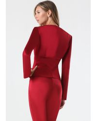Bebe | Red Tiana Seamed Jacket | Lyst