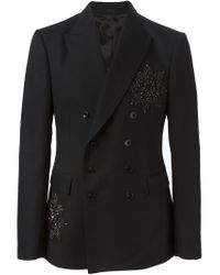 Alexander McQueen - Black Embellished Badge Blazer for Men - Lyst