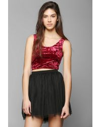 Urban Outfitters | Red Out From Under Crushed Velvet Bra Top | Lyst