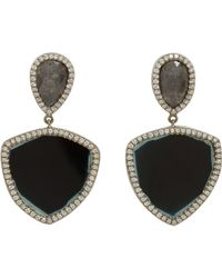 Monique Pean Atelier - White Diamond & Tourmaline Drop Earrings - Lyst