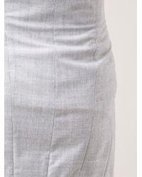 Jil Sander - Gray Soft Wrap Skirt - Lyst