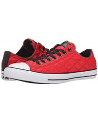 Converse - Red Chuck Taylor® All Star® Quilted Ox for Men - Lyst